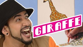 Mad Stuff With Rob - How To Draw A Giraffe- DIY Drawing For Children