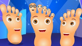 Finger Family Feet Toe Family  Finger Family Songs  Funny Finger Family