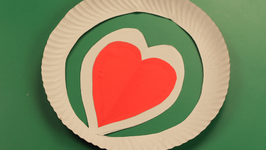 Paper Plate Heart
