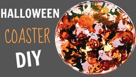 Halloween Confetti Coaster DIY  Another Coaster Friday  Craft Klatch