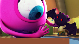 The Color Black - Monster Family Color and Shapes