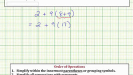 Evaluate an Expression Using the Order of Operations: ab(cd)