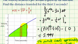 Example 2: Application Of Definite Integration - Distance