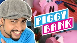 Mad Stuff With Rob  How To Make A Piggy Bank- DIY Craft For Children- New Year's Special