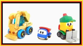 Leo Truck, Lifty And Max Excavator Cartoon Circus Toys - EdToy Multi-Toy Unboxing