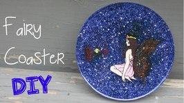 DIY Fairy Glitter Coaster Another Coaster Friday Craft Klatch