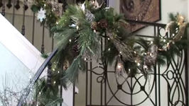 Christmas Decorations and Decorating the Staircase and Banister