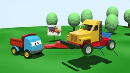 Kids 3D Construction Cartoons For Children 2  Leo Truck Builds A Haul Truck