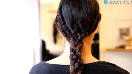 Tuto coiffure : la quadruple tresse