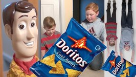 Toy Story 4 - Doritos Chip Battle - Woody Buzz Lightyear And Batman - Disney Pixar Parody