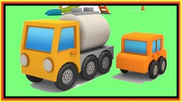 Cartoons - Max Excavator - Gas Truck - Surprise Egg Playground Game