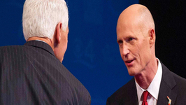 Florida Governor Stalls Debate Over Opponents Fan