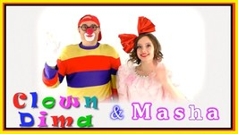 Masha And Car Сlown Trucks Vs. Dolls  Clown Videos For Kids - 1