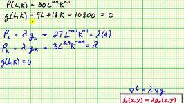 Maximize a Cobb Douglas Production Function Using Lagrange Multipliers