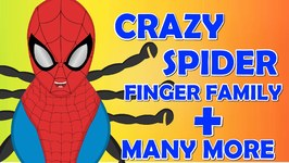 Crazy Spider Finger Family  Funny Finger Family Nursery Rhymes Collection