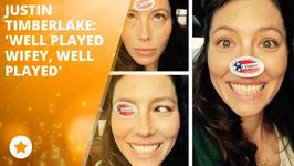 Jessica Biel pokes fun at JT's voting booth selfie