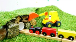 Toys And Videos For Kids  Excavator Max And Toy Train  Tunnel For Train Toy Story And Train Videos
