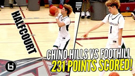 Chino Hills Crazy Show Continues Full Highlights LaMelo Ball Halfcourt Shot LiAngelo Scores 65