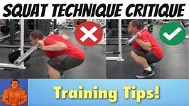 Squat Form Technique Critique - Detailed Video Breakdown