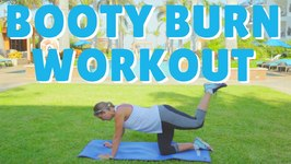 Booty Burn and Lift Workout - Gym Free Follow Along 10 minutes