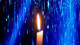 One Hour Candle Meditation with Gentle Rain Sounds
