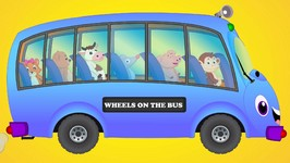 The Wheels On The Bus - Wheels On The Bus Go Round And Round - Animal Wheels On The Bus