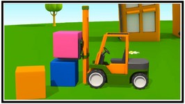 Leo's Loader  Forklift Truck - Kid's 3D Construction Cartoons For Children Tutitu Cartoon Style