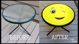 Outdoor Table Makeover DIY  Emoji Table  Garbage to Gorgeous-Episode 19