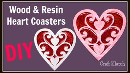 Valentine's Day Wood and Resin Heart Coasters  DIY Project  Another Coaster Friday  Craft Klatch