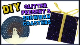 DIY Resin Glitter Present and Snowman Coasters- Another Coaster Friday Craft Klatch
