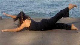 Ardha Salabhasana Yoga Poses - Yoga For Beginners