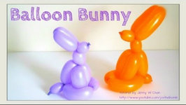 Easter Crafts - How to Twist a Balloon Animal Easter Bunny-Rabbit - Balloon Modeling - Easy