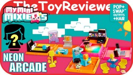 My Mini MixieQ's Neon Arcade Cube Deluxe Playset Unboxing Toy Review