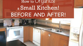 How to Organize a Small Kitchen - Before and After
