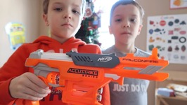 New Nerf Gun Unboxing And Review  Accustrike Falconfire