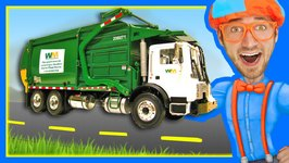 Garbage Trucks for Children with Blippi - Learn About Recycling