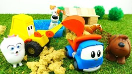 Videos For Kids With Toy  Leo The Truck And Excavator Max  Farm For Dogs  The Secret Life Of Pets