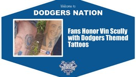 Stories By Scully: Fans Show off Dodgers and Vin Scully Inspired Tattoos