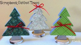 DIY Scrapbook Paper Christmas Trees  Christmas Crafts