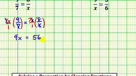 Ex: Solve a Proportion by Clearing Fractions ((a/xb/c, Fraction Solution)