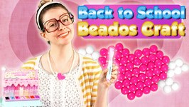 Back to School Beados Craft - DIY Heart Charm Necklace Craft