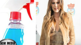 Khloe Kardashian Secret Diet Trick - Sprays Windex-Like Cleaner on Food