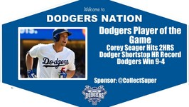 Dodgers Highlights Player of the Game: Corey Seager Hits 2 HRS in Win vs. Phillies