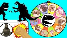 GODZILLA Vs DINOSAURS GAME Jurassic World Dinosaur Plus Godzilla Surprise Toys Slime Wheel Kids Games