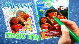 Disney Moana Movie Imagine Ink Coloring Book Rainbow Color Pen Surprise