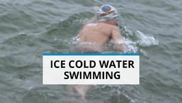 Dare to Dive in Ice Cold Water? This Swimmer Does