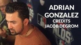 Adrian Gonzalez Credits Jacob deGrom
