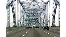 Driving Over The Old Bay Bridge Into San Francisco