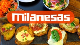 Eating Milanesa in Buenos Aires, Argentina