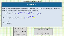 Simplify Expressions Using Exponent Rules (Product, Quotient, Zero Exponent)